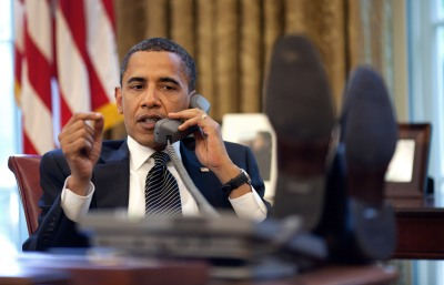 President_Barack_Obama_On_The_phone
